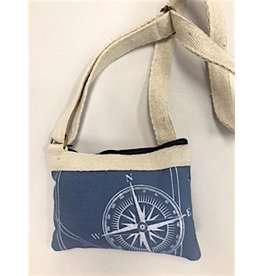 Ocean Blue Compass Crossbody