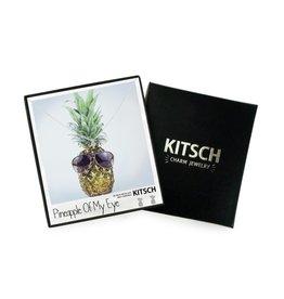 Kitsch Kitsch-Pineapple of my Eye Silver Set of Necklace & Earrings