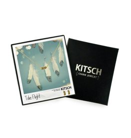 Kitsch Kitsch-Take Flight Gold Set of Necklace & Earrings