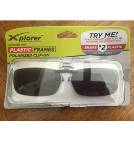 Stingray Eyewear Clip-On Frames-Plastic #2-Smoke Lens