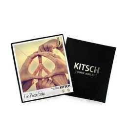 Kitsch Kitsch-For Peace Sake Gold Set of Necklace & Earrings