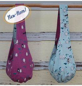 Art Studio Company Cotton Sling Bag-Cats (Pink/Mint)