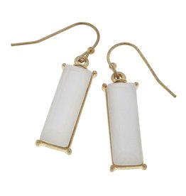 Canvas Jewelry Earrings-Gemstone Bar-Amazonite