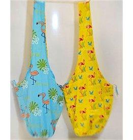 Art Studio Company Cotton Sling Bag-Florida Flamingo (Blue/Yellow)