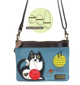 Chala Bags Crossbody-Mini-Fat Cat-Blue Grey