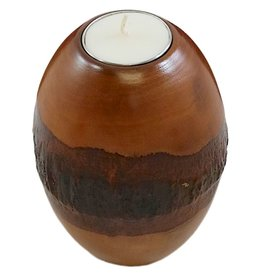 "Circa Home 55 Pillar Bark Candle Holders-""Honey"""
