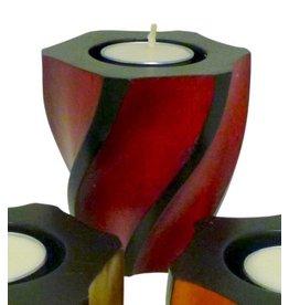 "Circa Home 55 Wave Pillar Candle Holder-""CHERRY"""