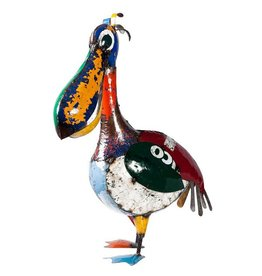 Think Outside Pete The Pelican, Recycled Metal Art