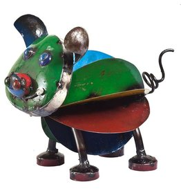 Think Outside Pete the Pig Metal Art