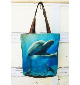 Art Studio Company Tote Bag Recycled-Dolphin