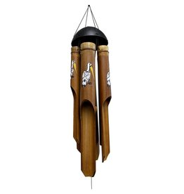 Cohasset Bamboo Wind Chime-Pelican Painted