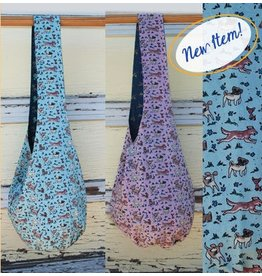 Art Studio Company Cotton Sling Bag-Dogs (Mint/Lavender)