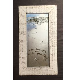 LisArt Framed Waves-'Life Shucks & Then You Fry'
