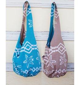 Art Studio Company Batik Cotton Sling Bag-Starfish (Blue)