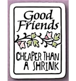 Spooner Creek Ceramic Magnet - 'Good Friends'