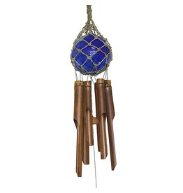 "Cohasset Glass Ball Wind Chime 4""-Blue"