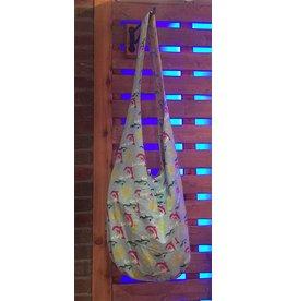 Art Studio Company Cotton Sling Bag-KEY LARGO Dolphins (Blue/Yellow)