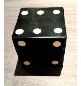 Black Bone Dice Box w/5 Dice