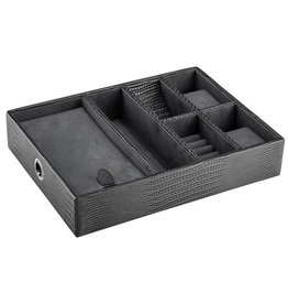 Brouk & Co Leather Valet-Aloft Tray (Grey Lizard)