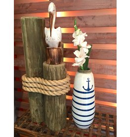 Imax Nautical Anchor Teracotta Vase