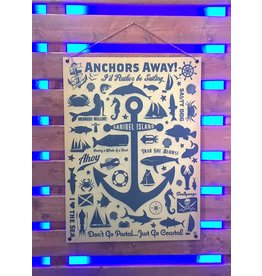 Metal Sign-Anchors Away-SANIBEL