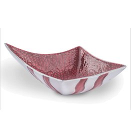 Circa Home 55 Metal Square Point Hennesey Bowl-Crimson