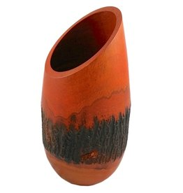 "Circa Home 55 Mango Wood Bark Vase - ""Orange"""