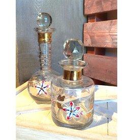 Blue Ocean Traders Vintage Flower Perfume Bottles