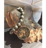 Lula n Lee Bracelet-Pyrite with Large Charm