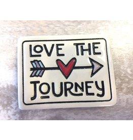 Spooner Creek Ceramic Magnet - 'Love The Journey'