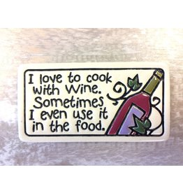 Spooner Creek Ceramic Magnet - 'I Love to Cook'