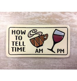 Spooner Creek Ceramic Magnet - 'How To Tell Time'
