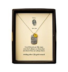 """BU Jewelry BU-Inspirational Necklace-""""Friends Are Like Stars"""""""