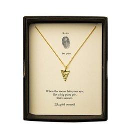 """BU Jewelry BU-Inspirational Necklace-""""Pizza -"""" Gold"""""""