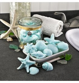 Honey Hive Treasures Sea Soap Jar-(Blue)