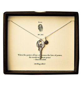 "BU Jewelry BU-Inspirational Necklace-""Power of Love"" - Jimi Hendrix"