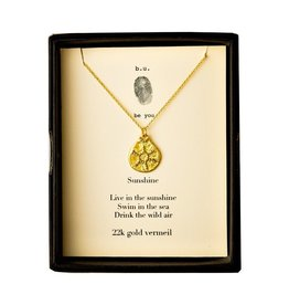 "BU Jewelry BU-Inspirational Necklace-""Granulated Sunshine""-Gold"