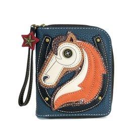 Chala Bags Wallet-Zip Around-Horse