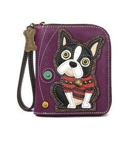 Chala Bags Wallet-Zip Around-Boston Terrier