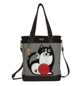Chala Bags Tote-Work-Fat Cat-Black Stripe