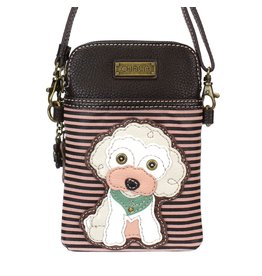 Chala Bags Crossbody-Cell Phone Bag-Poodle-Stripe