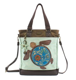 Chala Bags Tote-Work-Turtle-Stripe