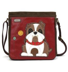 Chala Bags Messenger Deluxe-Bulldog-Burgundy