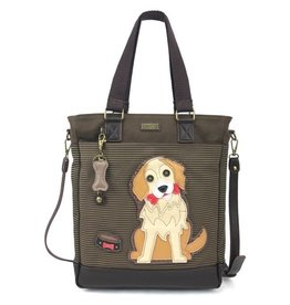 Chala Bags Tote-Work-Golden Retriever-Stripe
