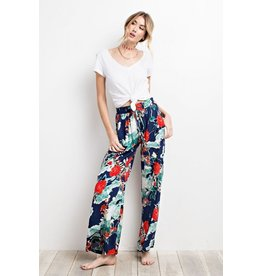 Easel Pants-Boho Tropical Wide Leg