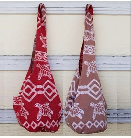 Art Studio Company Batik Cotton Sling Bag-Sea Turtle (Red)