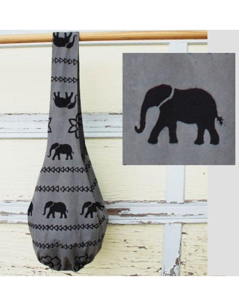 Art Studio Company Veggie-Dye Sling Bag-Elephant (Grey)