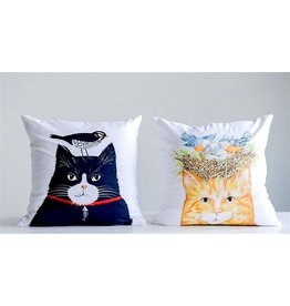 "Cotton Pillow ""Bird Cat"""