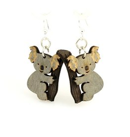 Green Tree Earrings Wood-Koala