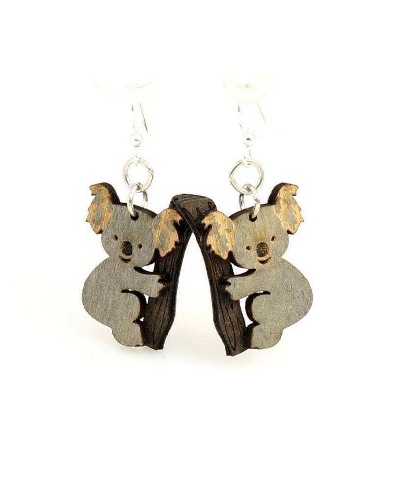 Green Tree Earrings Wood-Koala